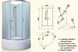 Схема монтажа душевой кабины