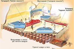 Схема римской бани