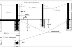 Схема заливки фундамента для бани