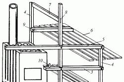 Схема размещения полоков и скамьи в бане