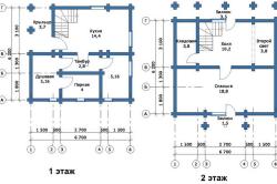 План двухэтажной бани